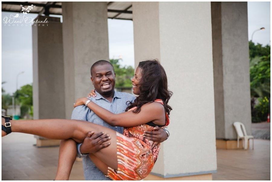 couple engagement pre wedding shoot in muri okunola park victoria island lagos photo