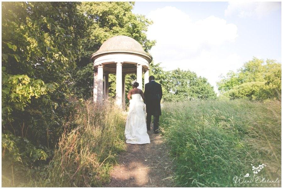 bride and groom at kew gardens wedding photo