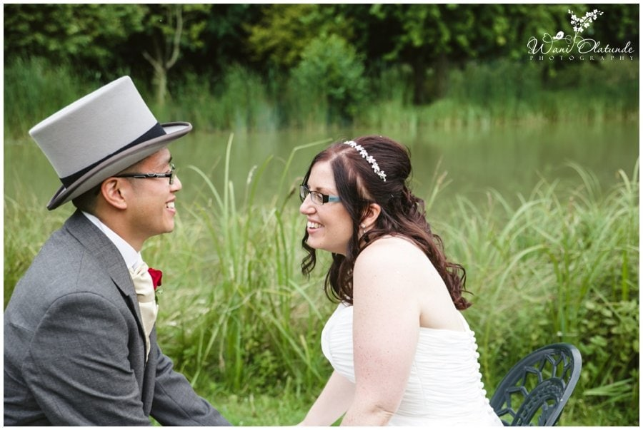 bride and groom at minstrel court wedding photo