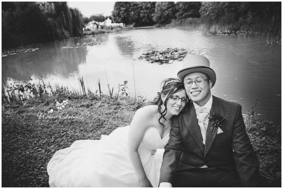bride and groom minstrel court wedding photo