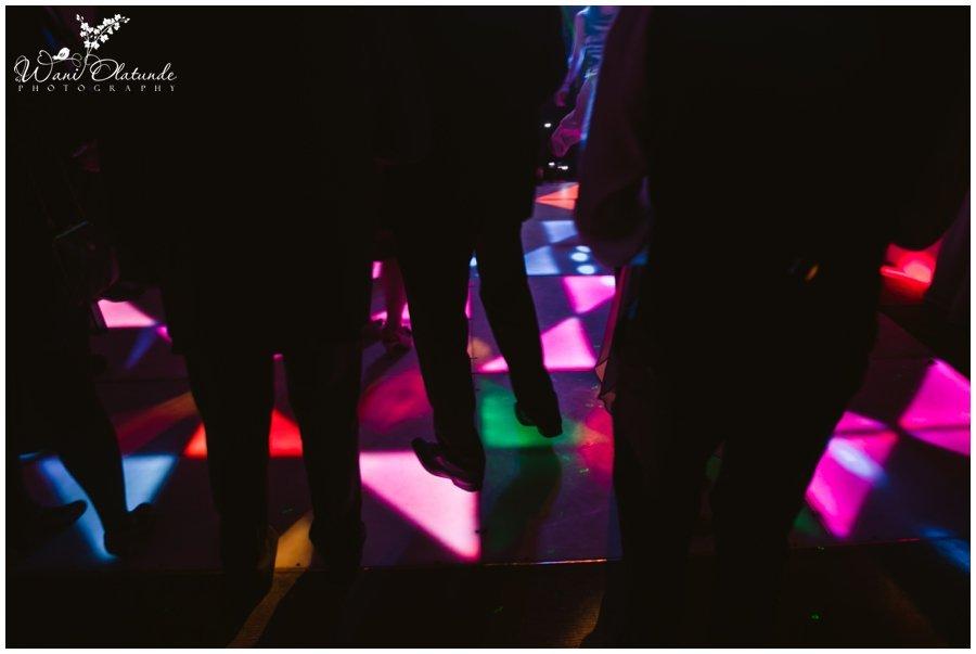 awesome dancefloor lights at minstrel court wedding photo