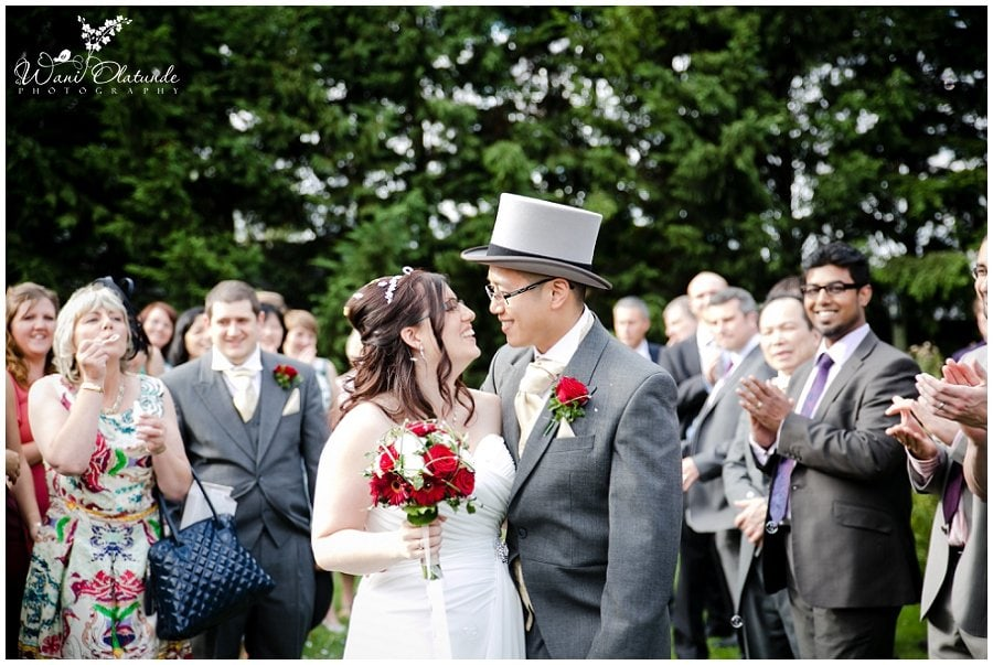 bride and groom confetti minstrel court photo
