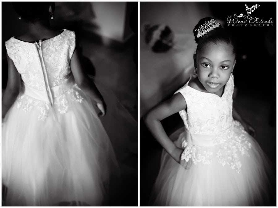 beautiful little bride at lagos wedding in festac