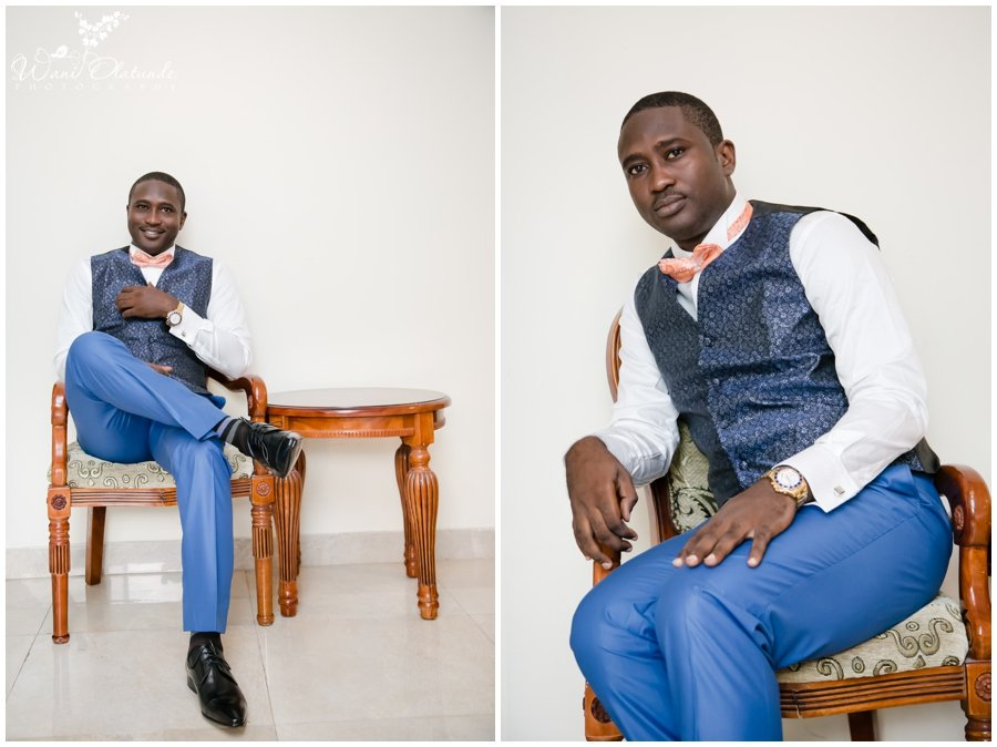 groom getting ready for festac wedding at rockview hotel photo