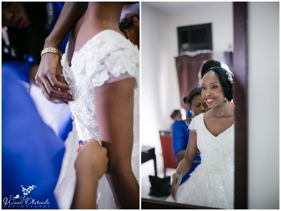 bride getting ready for festac wedding at rockview hotel photo