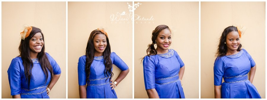 colourful bridesmaids at tfc centre wedding in festac photo