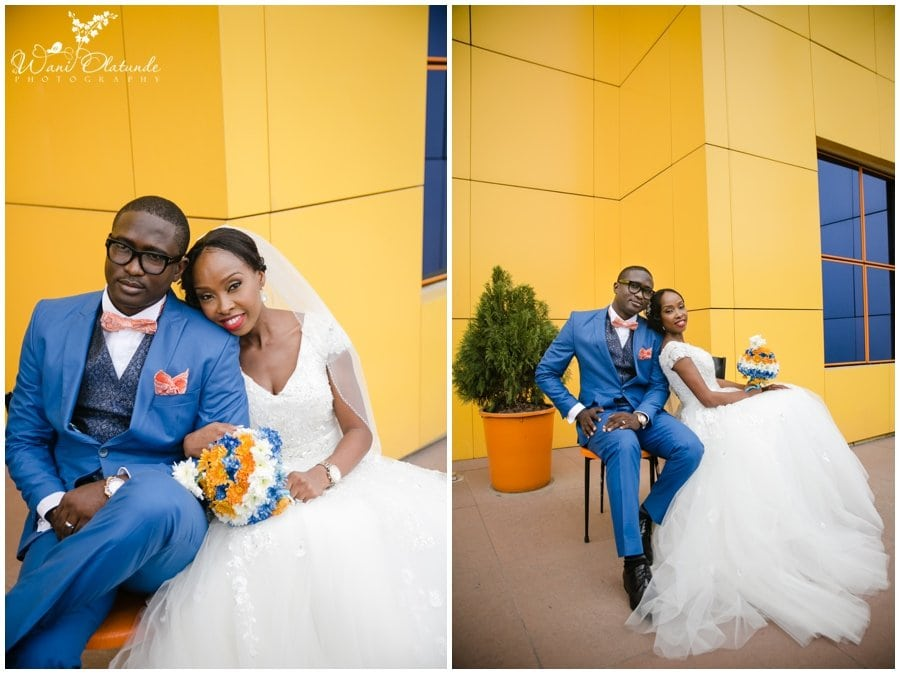 bride and groom at tfc centre wedding in festac photo