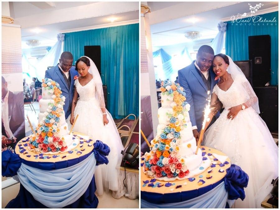 beautiful wedding cake at tfc centre wedding in festac photo