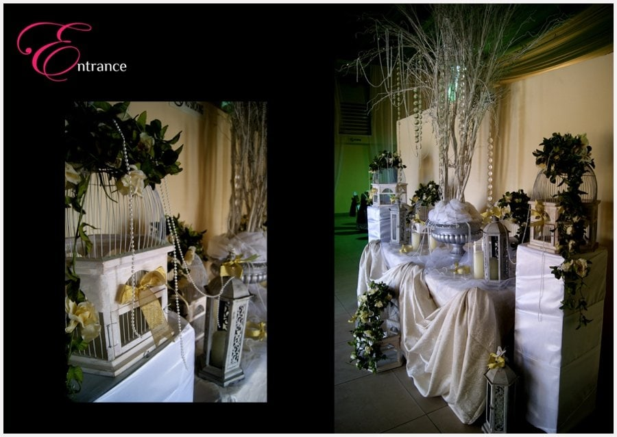 white and gold wedding decor by newton and david