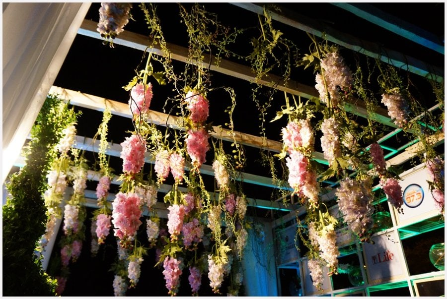 hanging flowers by newton and david