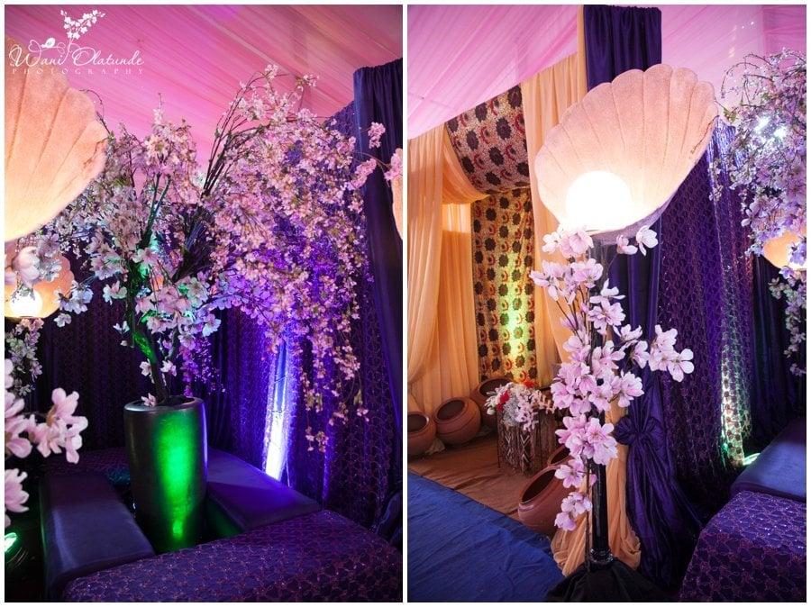beautiful wedding flower arrangement by newton and david