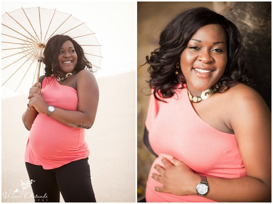 beautiful maternity pregnancy pictures on the beach in Lagos photo