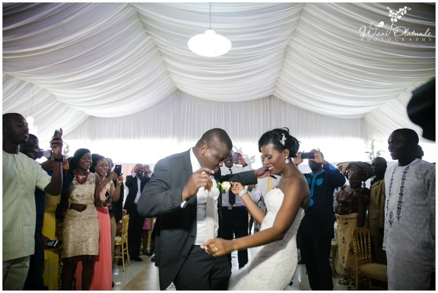 married couple dance at wedding at kfa event centre in lekki photo