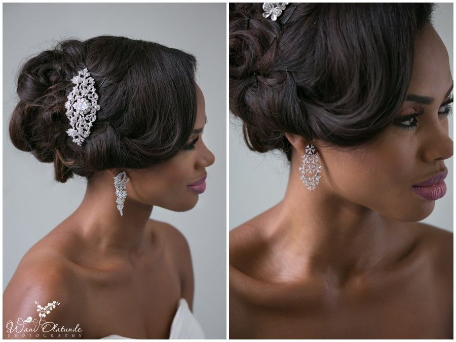 bridal wedding hair pieces earrings accessories lagos wedding photography