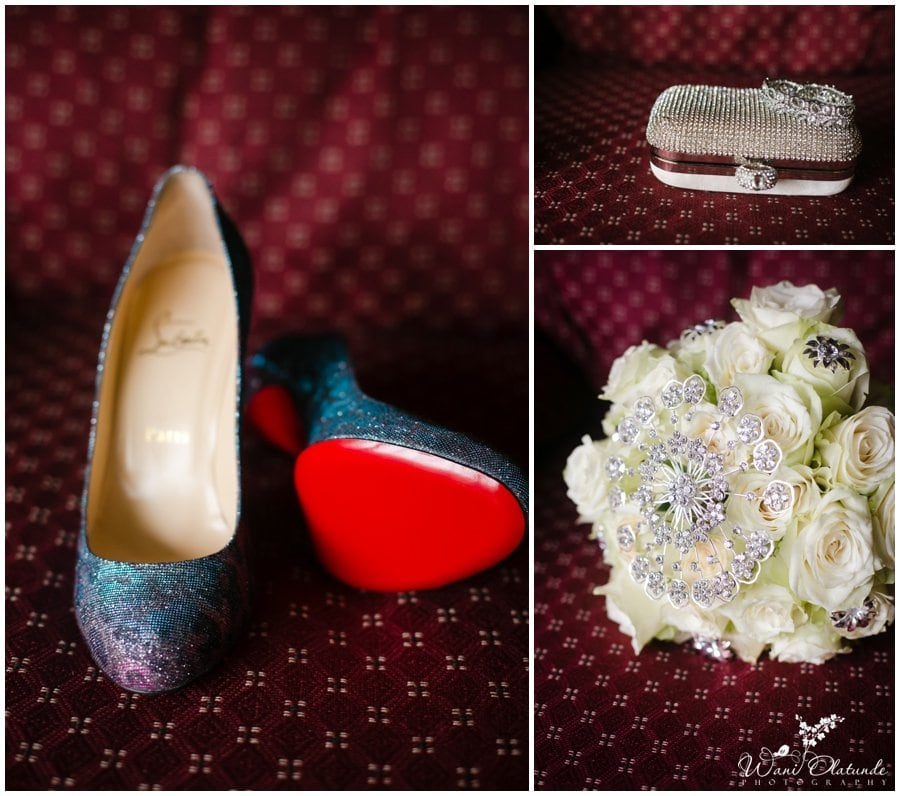 gorgeous blue sequin christian louboutin wedding shoes red soles