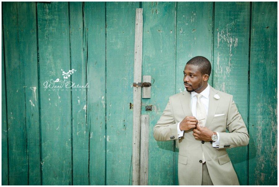 groom in brown wedding suit in lagos wedding