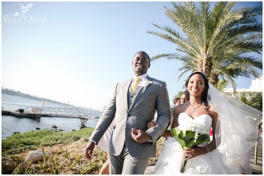 gorgeous nigerian couple at dubai outdoor wedding