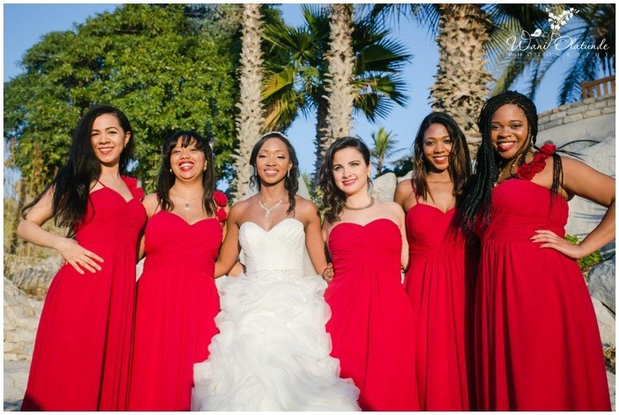 beautiful red bridesmaids dresses nigerian wedding dubai