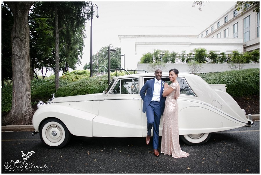 bride groom couple wedding rolls royce