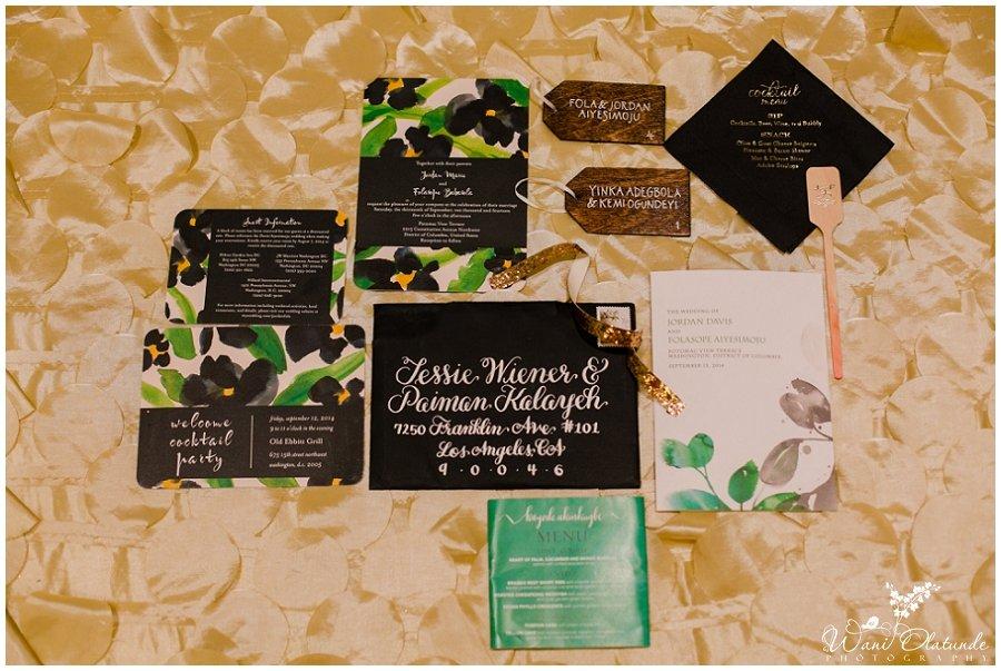 wedding details invitations menu
