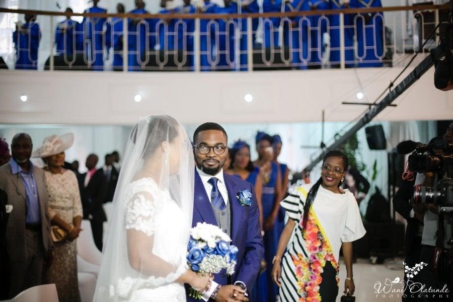 lagos wedding groom blue suit