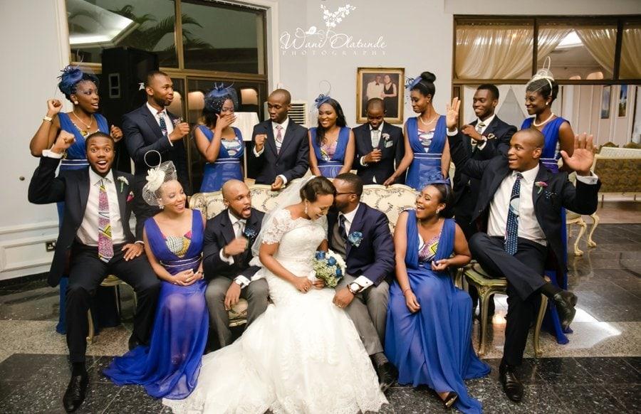 bridesmaids ankara blue dress rayo somoye