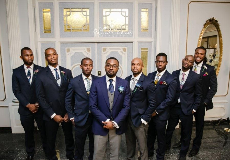 wedding groom blue suit ankara ties