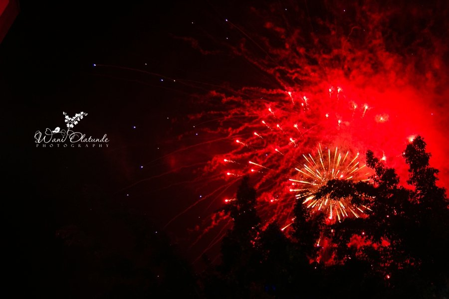 fireworks lagos wedding
