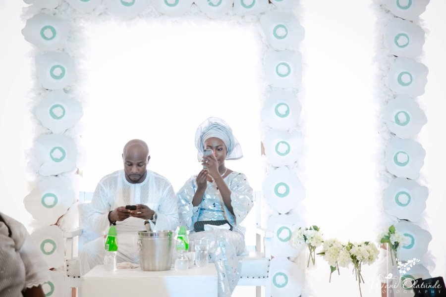 mint silver yoruba traditional wedding kfa events centre