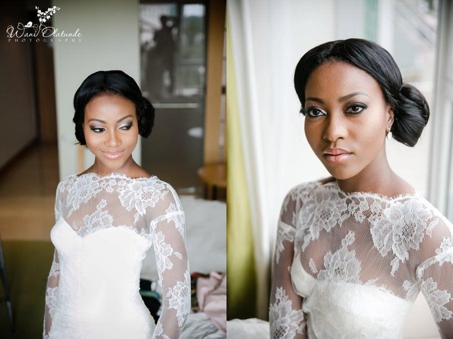 bride Monique Lhuillier dress radisson blu hotel lagos