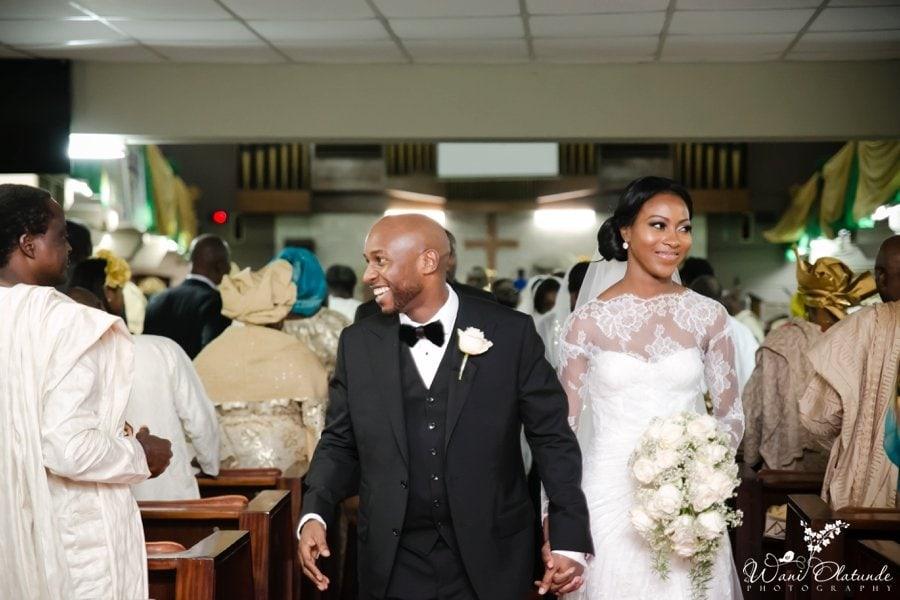 couple wedding methodist church of trinity tinubu lagos