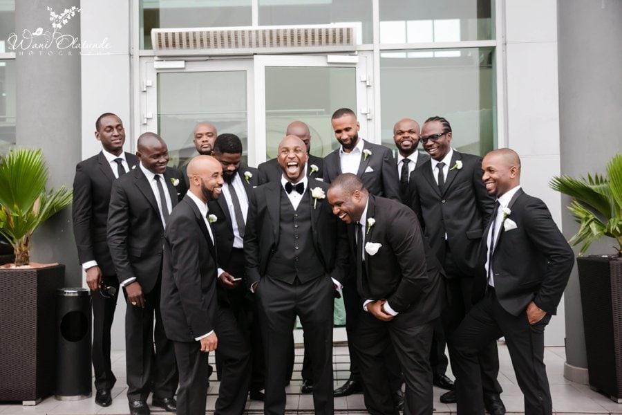 groomsmen black suits tom ford radisson blu lagos