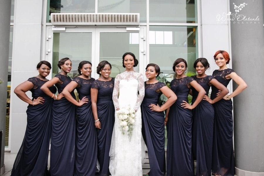 bridesmaids blue adrianna papell
