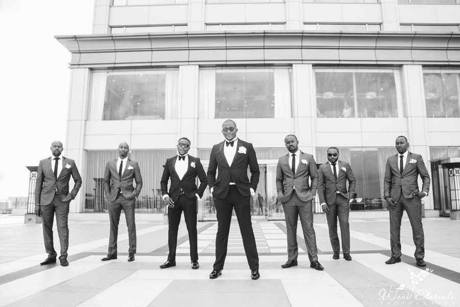 groomsmen black suits oriental hotel lagos