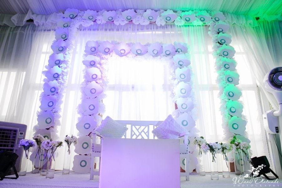 adorn by ayo decor mint green silver yoruba wedding