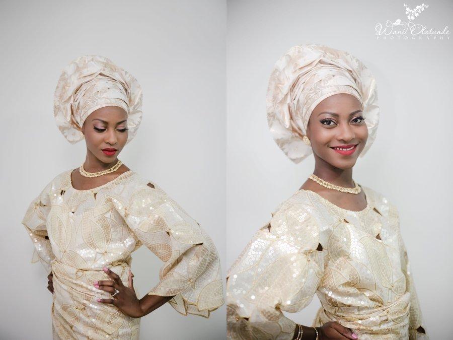 gold bisbod asooke aso oke yoruba wedding