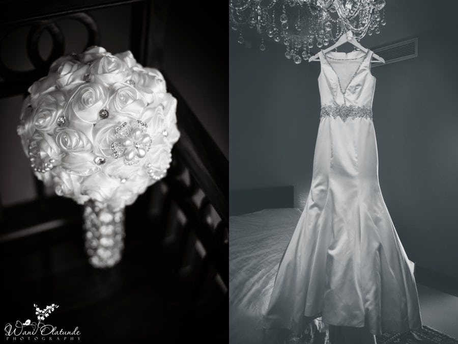 tiannah styling crystal bouquet wedding dress