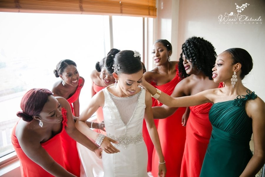 bride getting ready at lagos oriental hotel