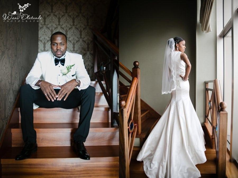 bride tiannah styling wedding dress lagos oriental hotel