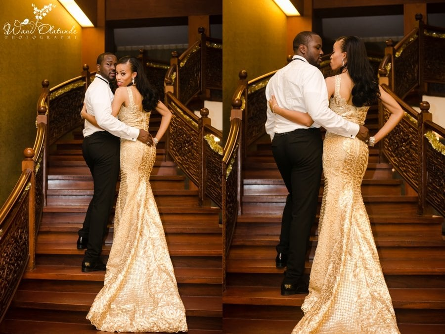 tiannah styling wedding reception dress lagos oriental hotel