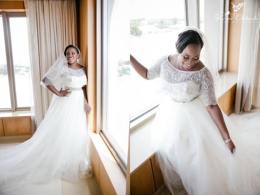 oriental hotel lagos wedding oleg cassini dress