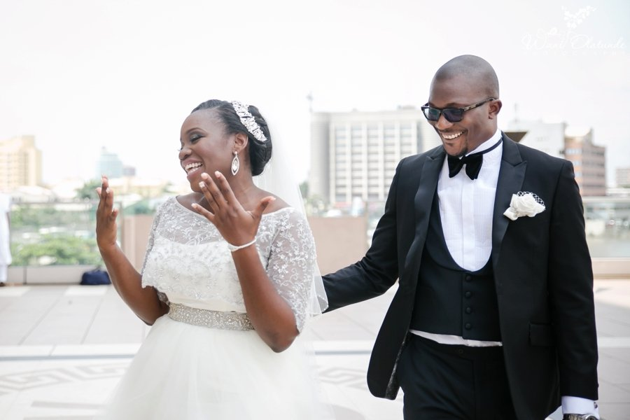 bride at oriental hotel lagos wedding
