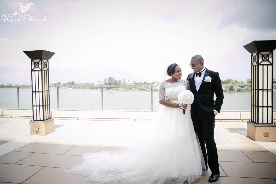bride groom at oriental hotel lagos wedding