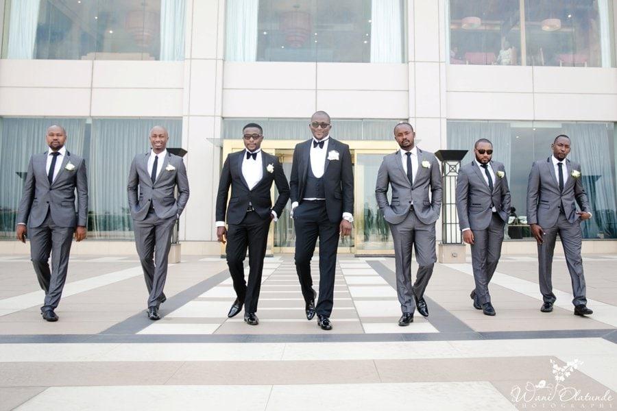 groomsmen at oriental hotel lagos wedding