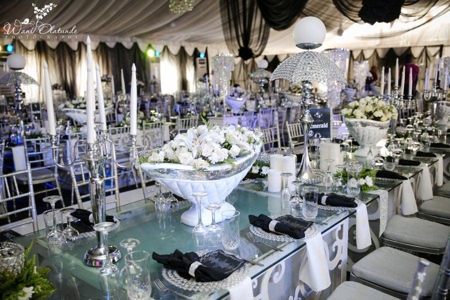 black and white wedding decor havilah lagos