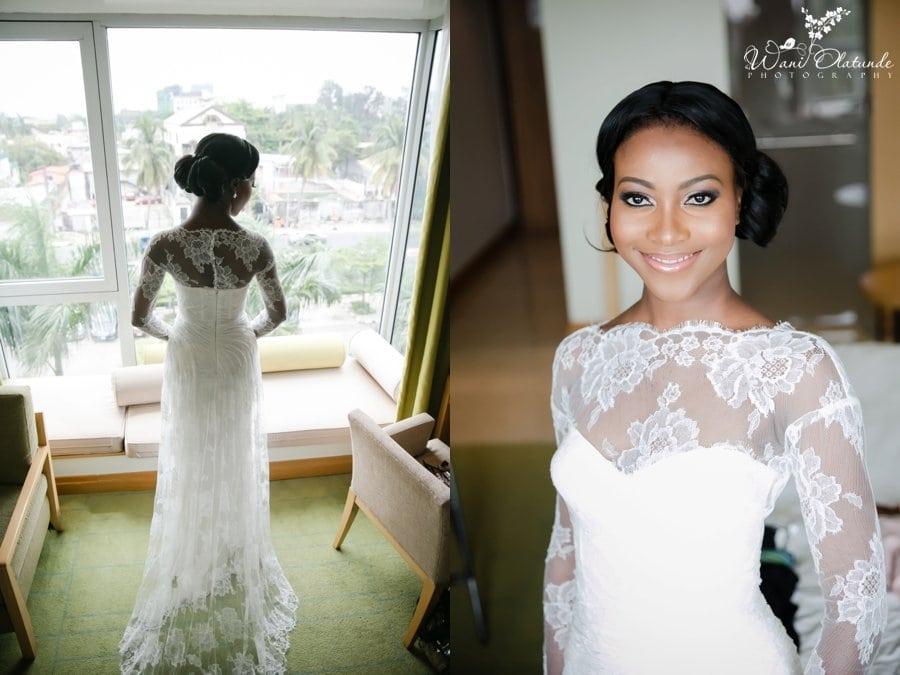 bride monique hlullier radisson blu lagos wedding