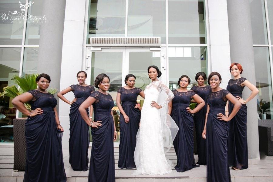 adriana papell lagos wedding bridesmaid dresses
