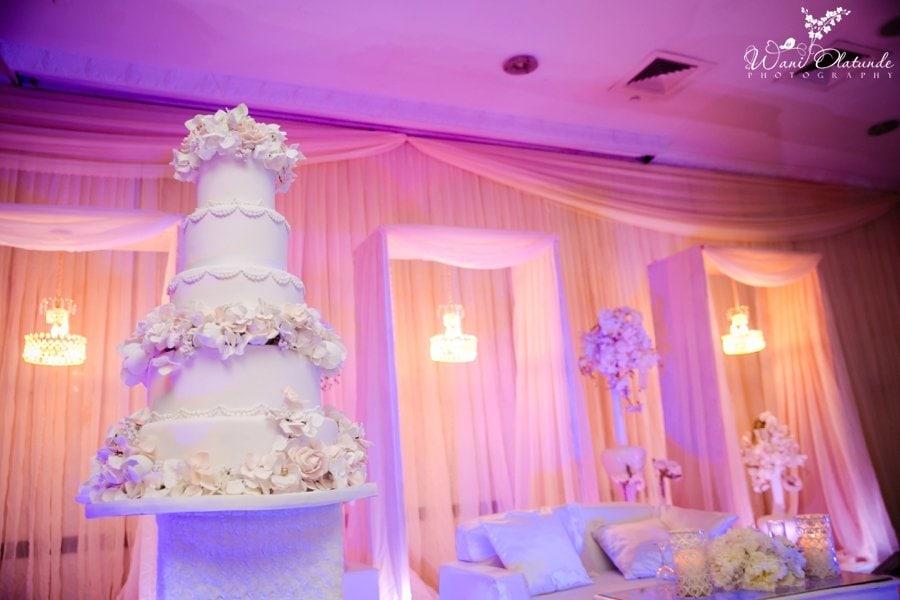 civic centre wedding reception adorn by ayo decor