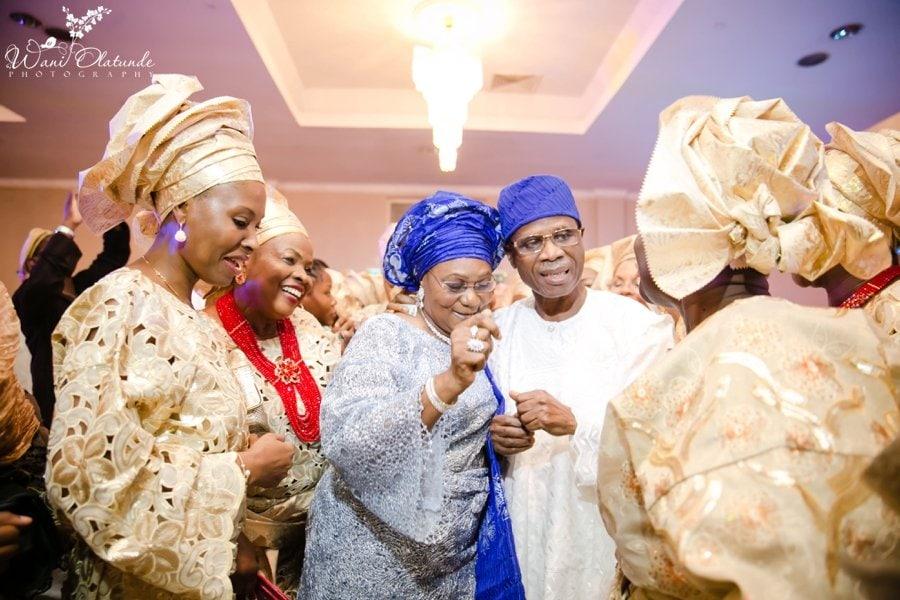 civic centre lagos wedding gold asooke