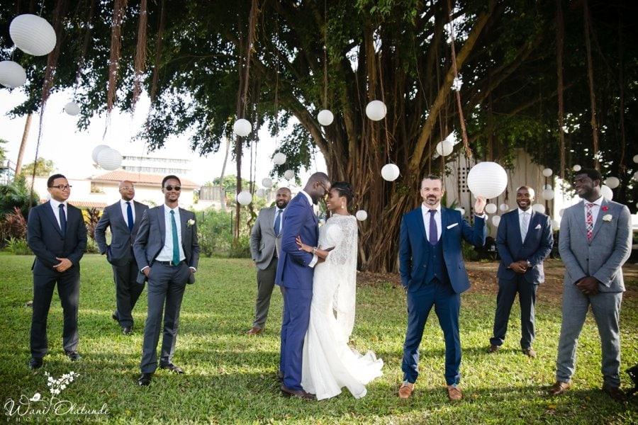 nigerian groom in mark marengo wedding suit in federal palace lagos